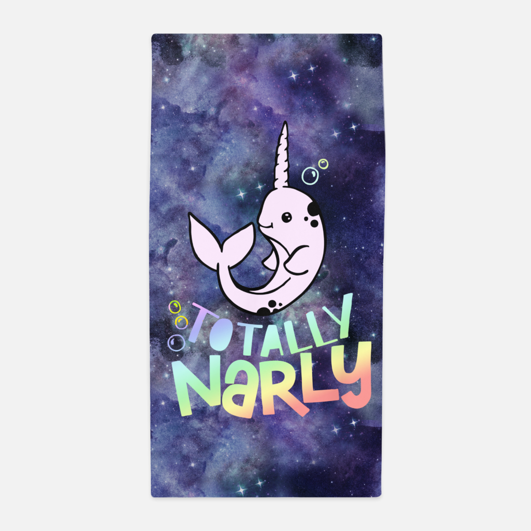 Totally Narly Narwhal Towel