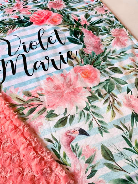 Floral Flamingle Blanket