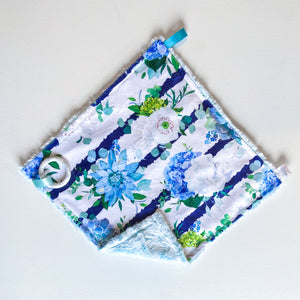 Blooming Blue Summer Blanket