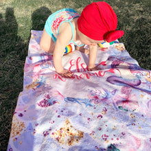 Load image into Gallery viewer, Personalized Mermaid Towel - The Snuggly Geekling