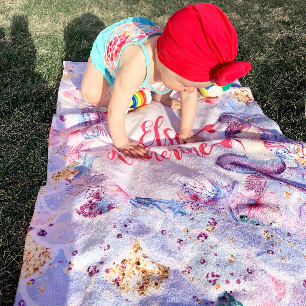 Personalized Mermaid Towel - The Snuggly Geekling