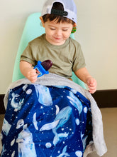 Load image into Gallery viewer, Midnight Whale Blanket - The Snuggly Geekling