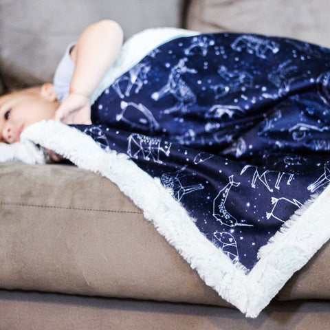 Animal Constellations Blanket - The Snuggly Geekling