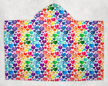 Load image into Gallery viewer, Rainbow Hearts Towel