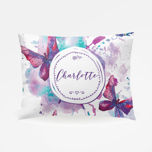 Watercolor Butterfly Pillowcase - The Snuggly Geekling