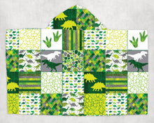 Load image into Gallery viewer, Dinosaur Patchwork Towel - The Snuggly Geekling