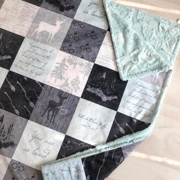 Always Mint Harry Potter Patchwork blanket