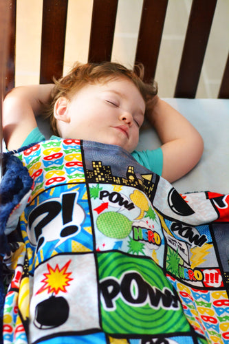 Super Hero Patchwork Blanket - The Snuggly Geekling