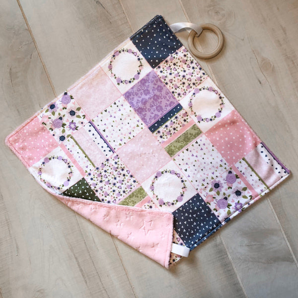 Personalized Floral Patckwork Blanket