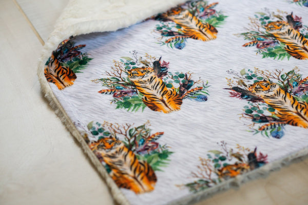 Tigers and Feathers Blanket