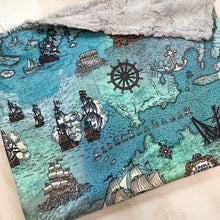 Load image into Gallery viewer, Pirate Ship Blanket - The Snuggly Geekling