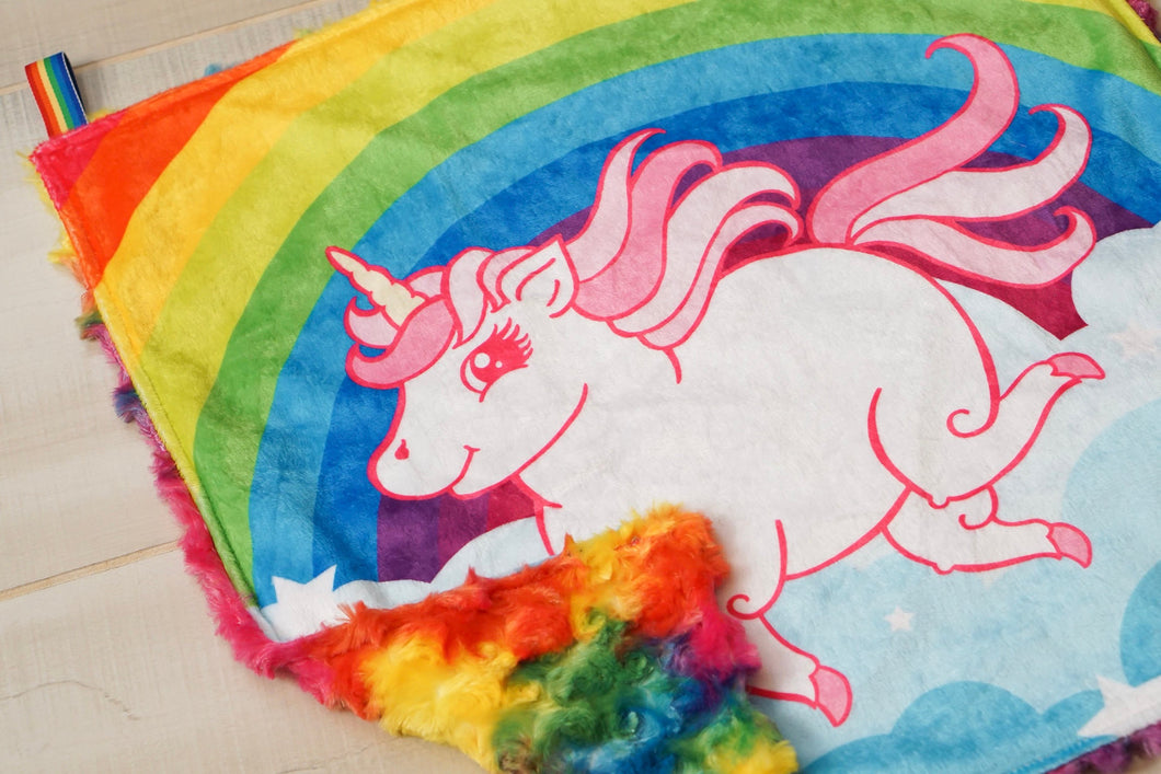Chubby Unicorn Lovey - The Snuggly Geekling
