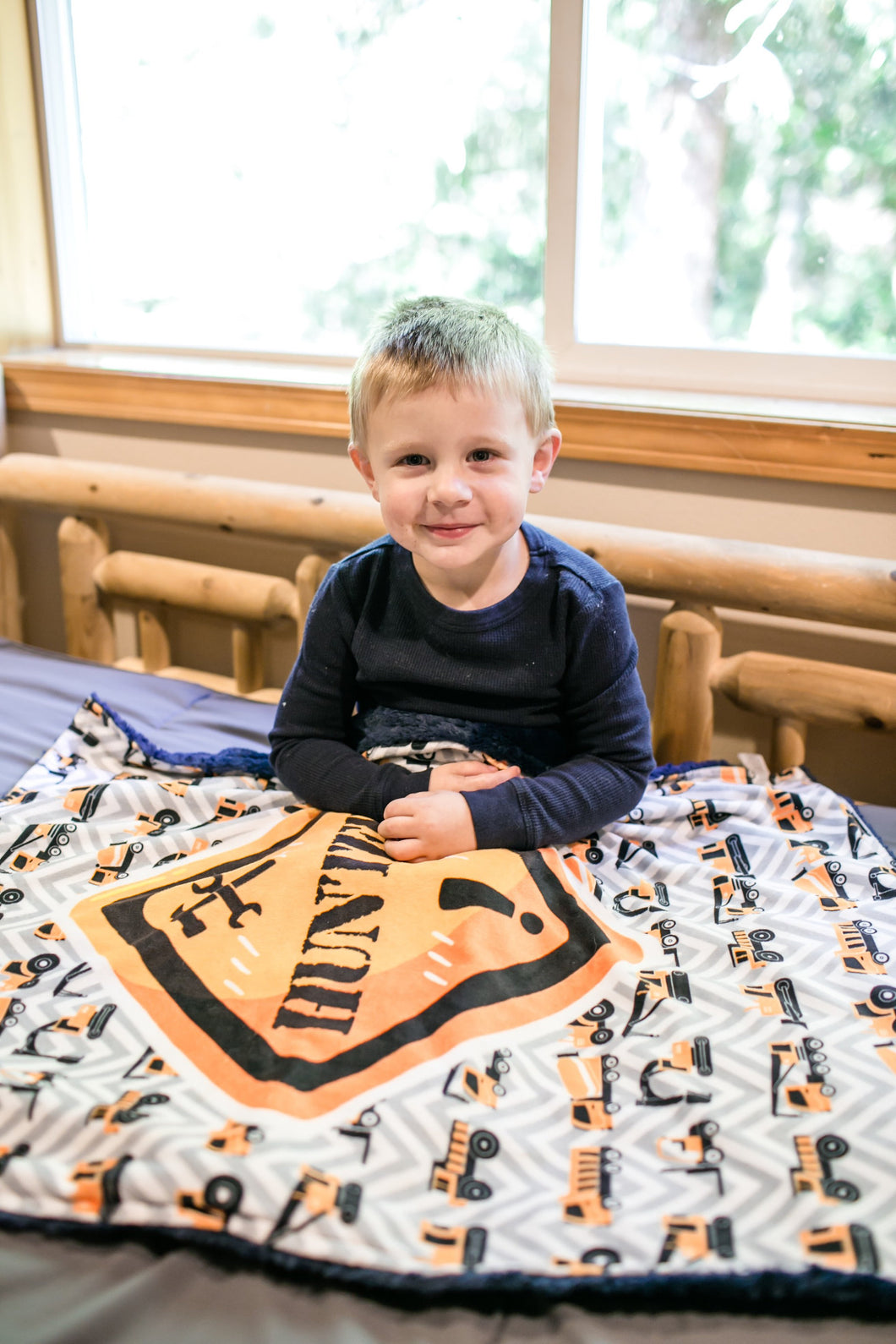 Personalized Construction Blanket - The Snuggly Geekling