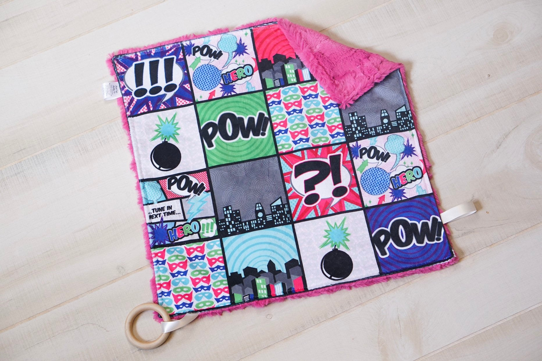 Super Hero Girl Patchwork Lovey