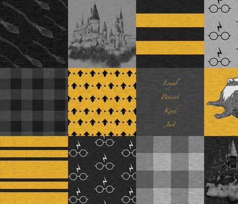 Hufflepuff House Blanket - The Snuggly Geekling