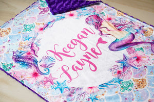 Personalized Mermaid Scales Blanket