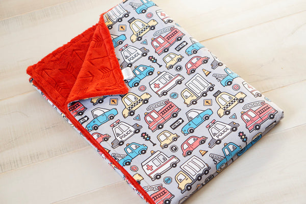 City Cars Baby Blanket