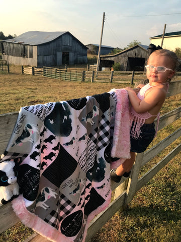 Cow Patchwork Blanket