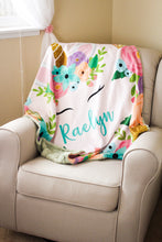 Load image into Gallery viewer, Unicorn Crown Blanket (Personalized) - The Snuggly Geekling