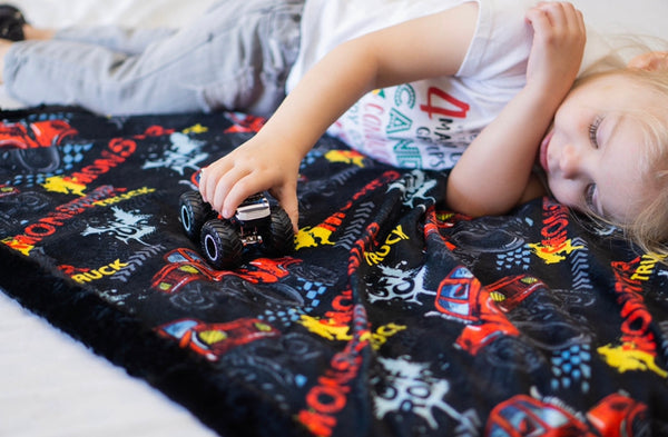 Monster Truck Blanket - The Snuggly Geekling