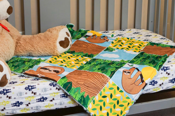 Sloth Patchwork Blanket