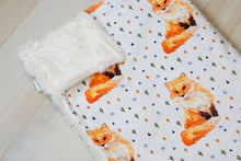 Load image into Gallery viewer, Watercolor Fox Blanket - The Snuggly Geekling