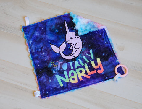 Totally Narly Narwhal Blanket