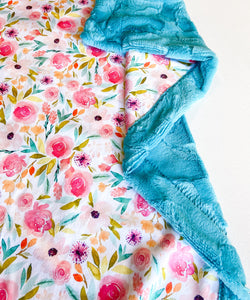 Sweet Spring Watercolor Blanket