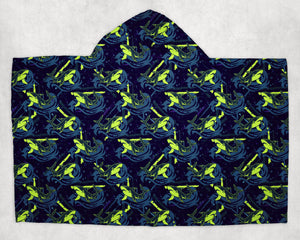 Neon Sharks Towel