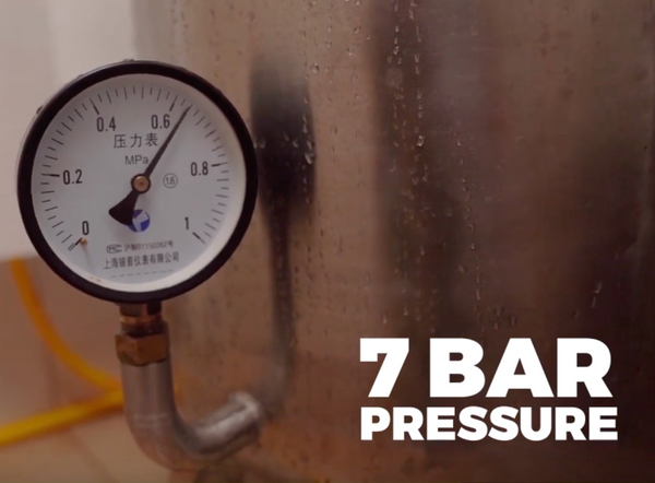 We implement 7 ATM pressure camera test on each Salted Line water housings before shipping