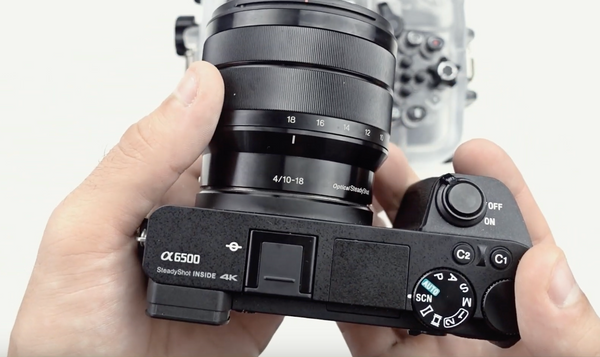 How to put Sony a6500 camera in and out of Salted Line water Housing