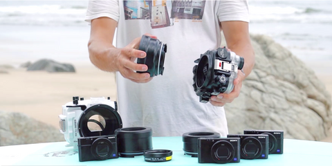 Salted Line underwater housing for Sony RX100 with interchangeable port system