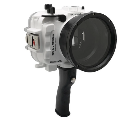 Salted Line underwater Housing for Sony RX100 white Pistol Grip
