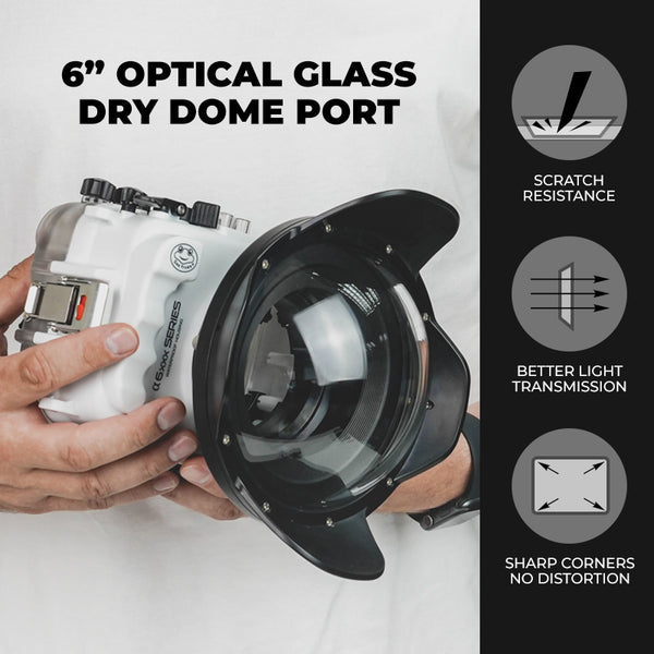 6-inch glass dry dome port