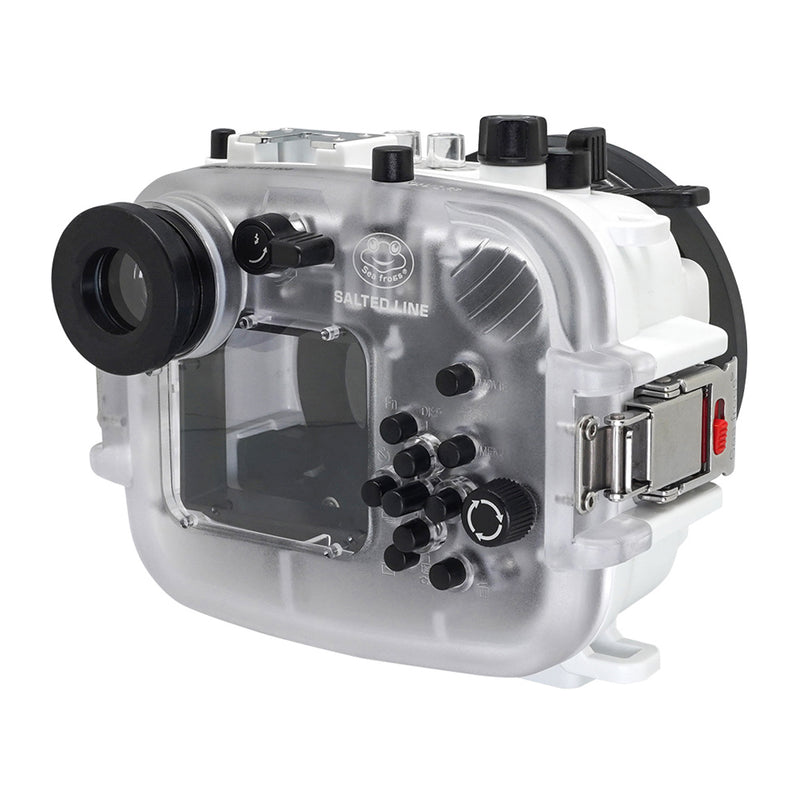 Underwater housing for Sony RX100 with 6 inch Dome Port and Pistol Grip