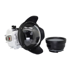 Underwater housing for Sony RX100 with 6 inch Dry Dome Port