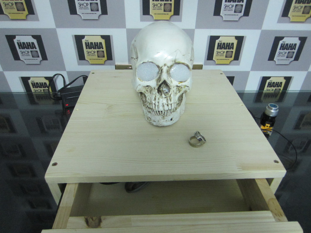 Escape room prop: Skull drawer prop