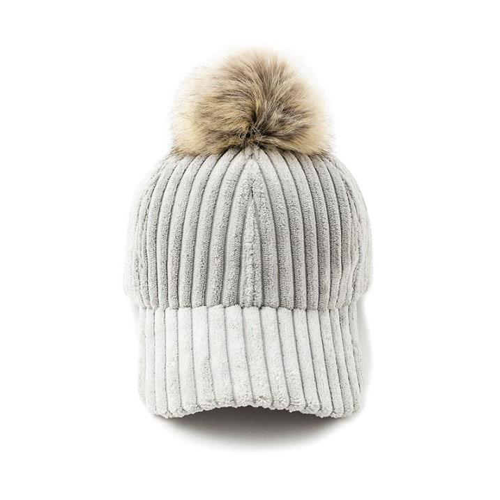 Impressive Women Pom-Pom Cap, light grey