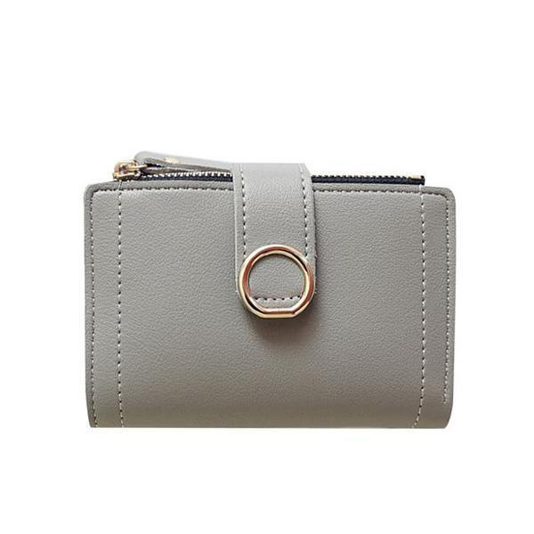 Mini gray wallet for women