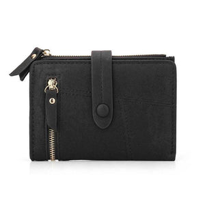 Black mini wallet womens