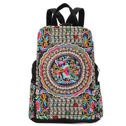 Handbmade ethnic backpack for women