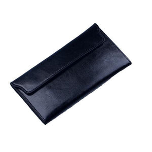 Black women's wallet with removable card holder