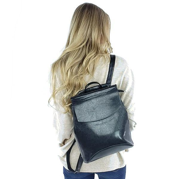 Leather convertible backpack purse, Black, Brown, Red, Silver, Beige, Blue, Purple