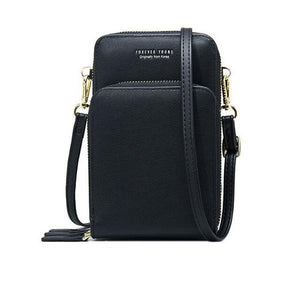 Black small crossbody bag cell phone purse