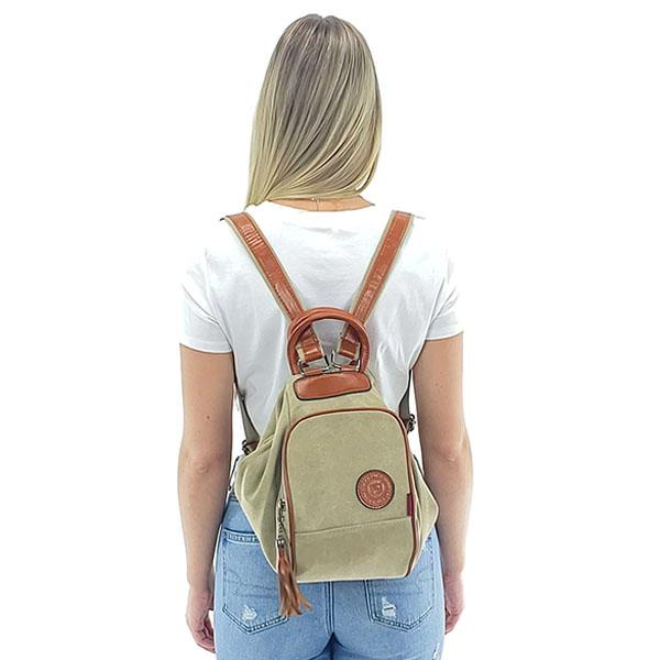 Convertible crossbody canvas backpack women, Blue, Coffee, Khaki, Pink, Red