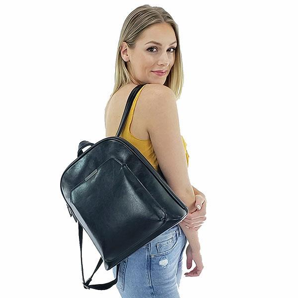 Crossbody backpack leather for women, Black, Dark Brown, Light Brown, Red, Khaki