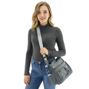 Crossbody bags with water bottle holder, Black, Light Blue, Dark Blue, Gray, Emerald, Coffee, Watermelon Red, Rose Red, Purple, Khaki