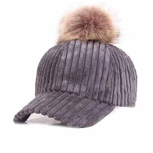 Impressive Women Pom-Pom Cap, dark grey