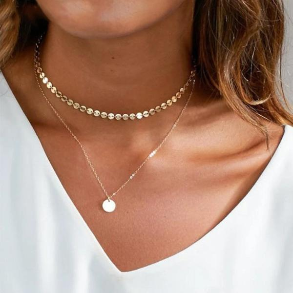gold coin choker necklace