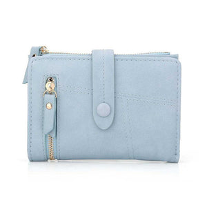 Blue mini wallet womens